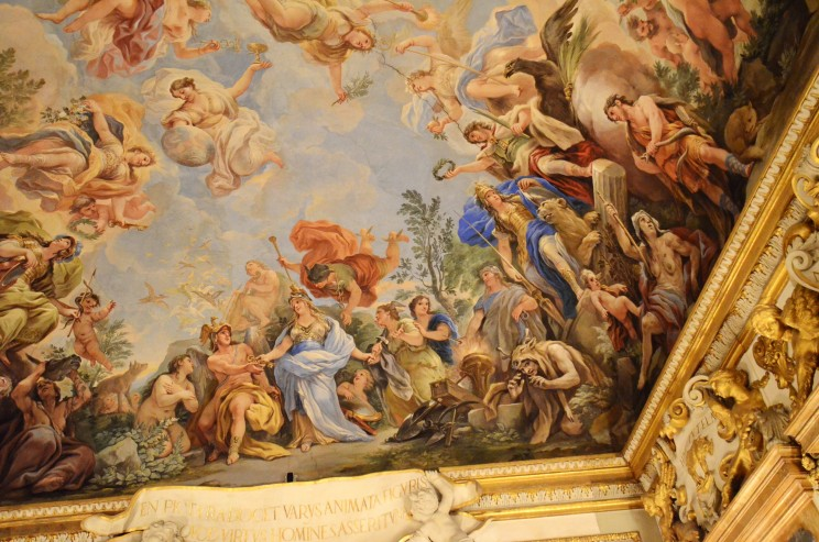 Zeitweise müssen sich die Medicis wahrhaftig wie die Götter der griechischen Mythologie gefühlt haben, die hier in einem Saal im Palazzo einzigartig dargestellt sind.